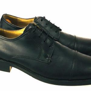 Chaps Men's Leather Cap Toe Derby Dress Sz 10.5